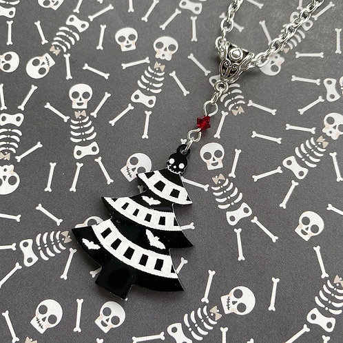 Gothic Christmas Tree Necklace