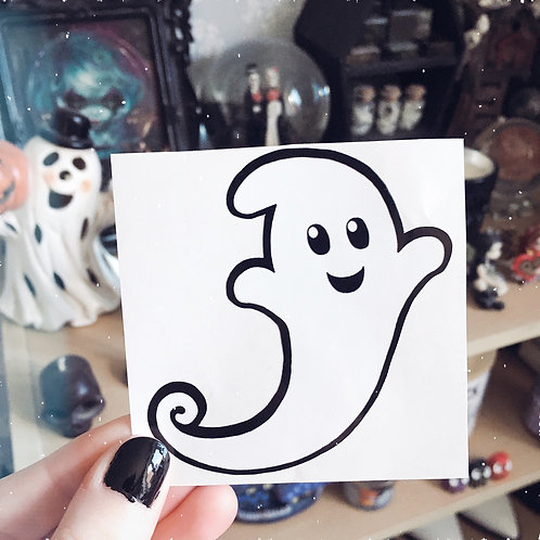 Happy Ghost Vinyl Sticker