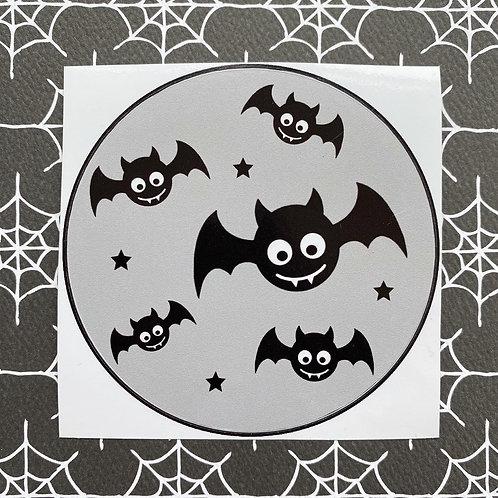 Gothic Baby Bats Grey Sticker