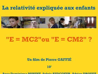 """""""La relativité expliquée aux enfants"""" de Pierre GAFFIé au St André des arts le 8 Janvier."""