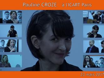 Pauline CROZE invitée d'une master class à l'ICART.