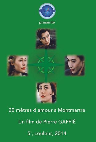Poster _20 mètres d'amour à Montmartre_.