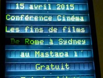 "Conférences cinéma au ""Mastaba"", La Garenne-Colombes"