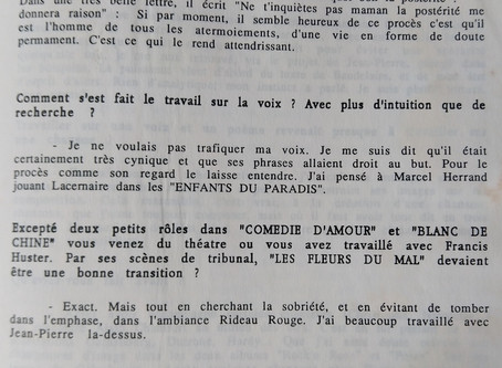 """""""Les fleurs du mal"""" de Jean-Pierre Rawson, avec Antoine Duléry en Charles Baudelaire : sui"""