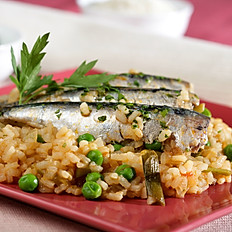 Sardines Grilled and Rice