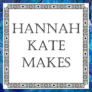 Hannah Kate Makes Logo Blue Outline