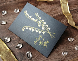 Lily of the Valley Wedding Celebration Card