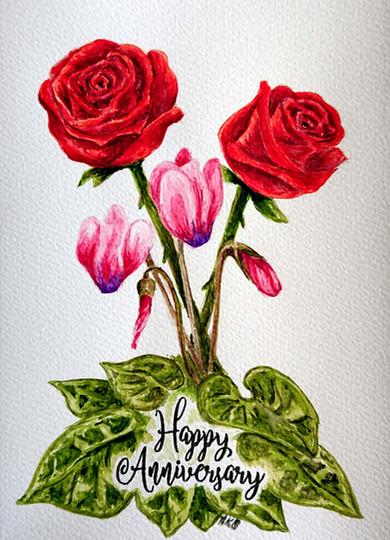 Roses & Cyclamen