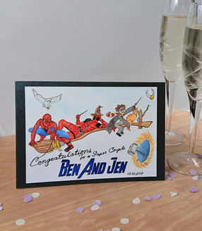 Marvel vs Harry Potter Wedding Card