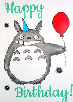 Totoro with Balloon