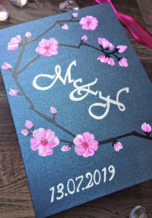 Plum Blossom Wedding Celebration Card