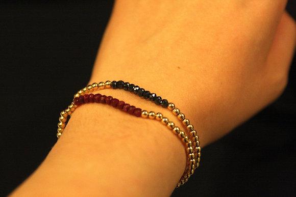 Dainty Beaded Bracelet (18KGF)