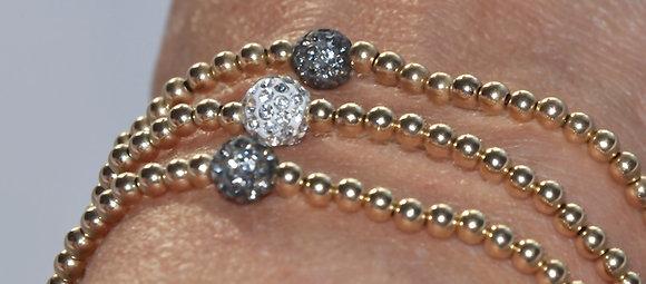 Dainty Beaded Bracelet (18k Gold Fill)