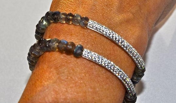 Labradorite & Platinum Vermeil Bracelet