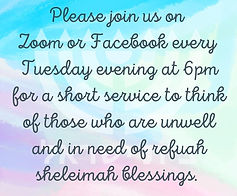 Please join us on Zoom or Facebook every