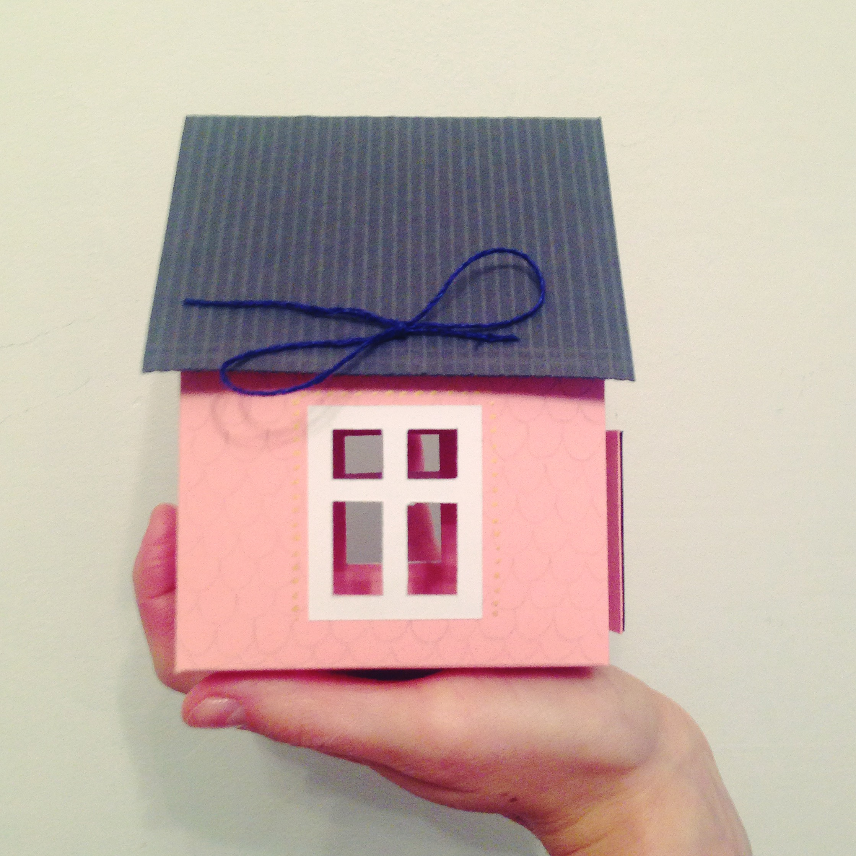 Как сделать открытку с домиком