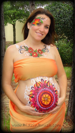Floral Belly Painting