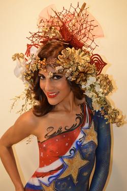 Body Painting 4th of July Orlando,Kissimmee Marcela Bustamante Blazin Brush