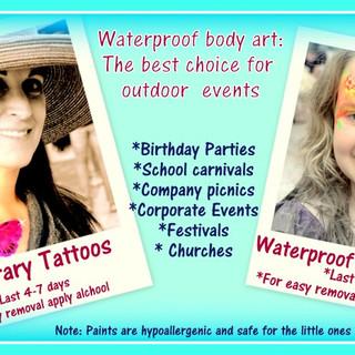 Airbrush Tattoos Waterproof face painting Kissimmee Marcela Bustamante