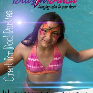 Waterproof face painting Kissimmee Marcela Bustamante