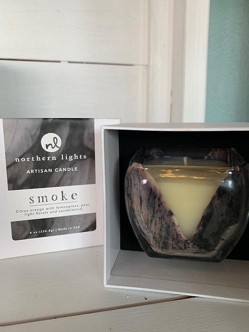 Northern Lights: Smoke Artisan Candle