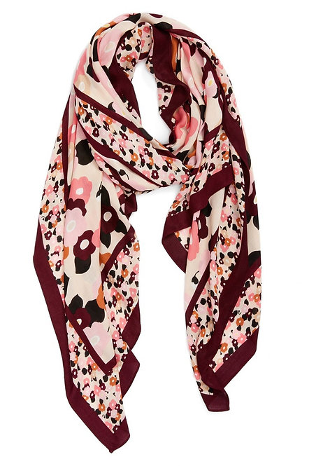 New York blooming oblong scarf