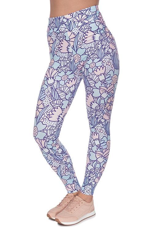 High waist pastel flowers cartoon