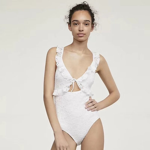 Bridal lace white swimsuit