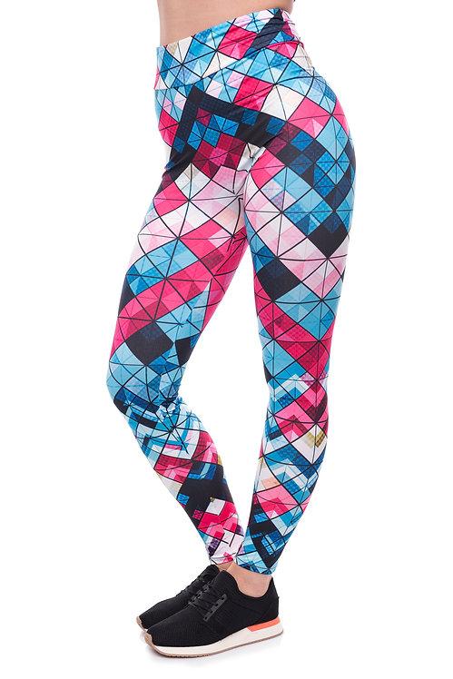 High waist geometric gym
