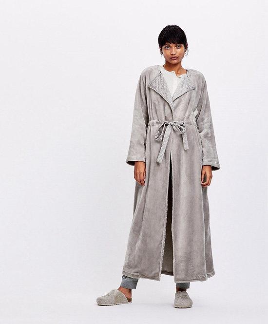 Satin flap bath robe