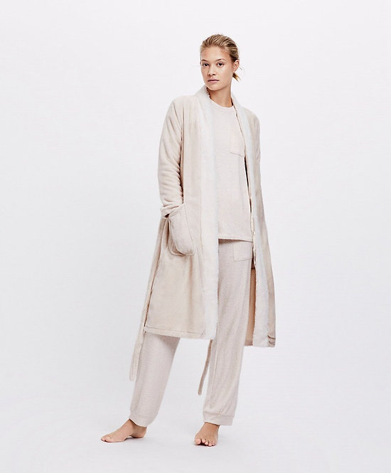 Long fuzzy dressing gown