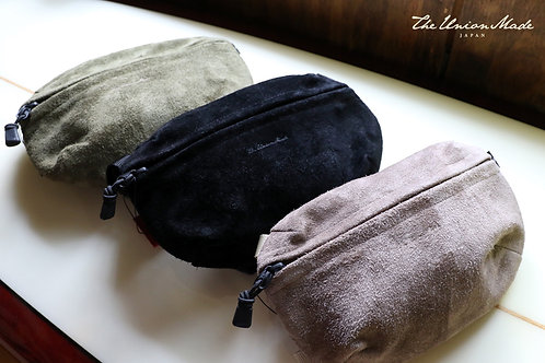 """SUEDE FIELD POUCH""(L size)  THE UNION / THE COLOR"
