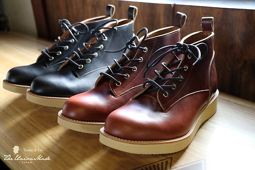 "THE UNION/THE COLOR ""Four star short boots/Tomotaka collage"" -Horween Leather-"