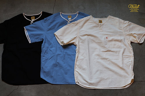 """""""HENLY NECK S/S SHIRTS""""  THE BLUEST / THE UNION"""