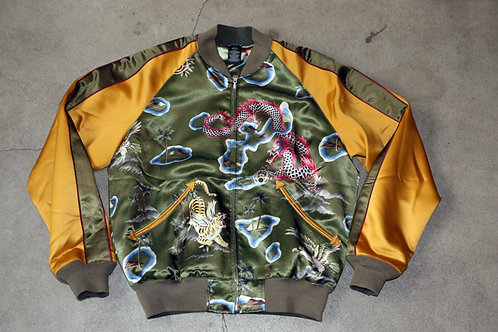 """Reversible Satin Tour Jacket"" Ralph Lauren / Double RL"