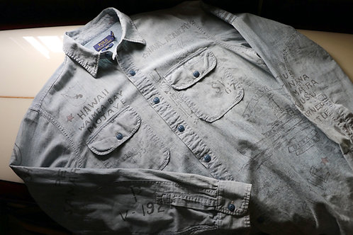 """Indigo Military Print Shirts"" Ralph Lauren / POLO"