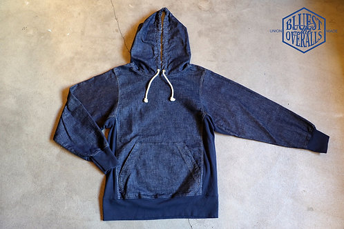 """DENIM PULLOVER HOOD""  THE UNION / THE BLUEST"