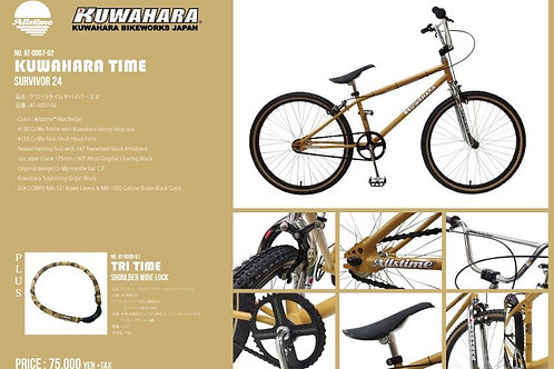 "Allstime™×KUWAHARA BIKE WORKS ""KUWAHARA TIME SURVIVOR 24"""