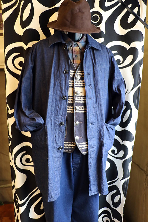 "THE UNION/THE OVERALLS ""BLUE DENIM COAT"""