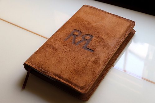 """Suede  Notebook Cover""  Ralph Lauren / Double RL"