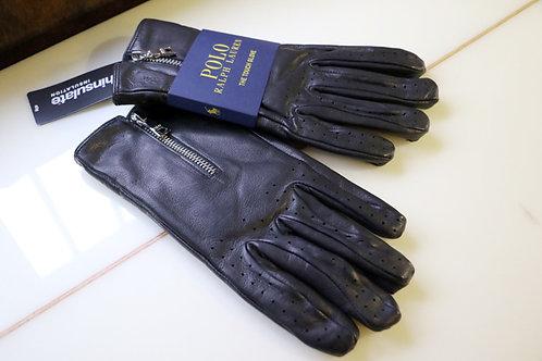 """""""Sheep leather zipper gloves""""  Ralph Lauren / POLO"""