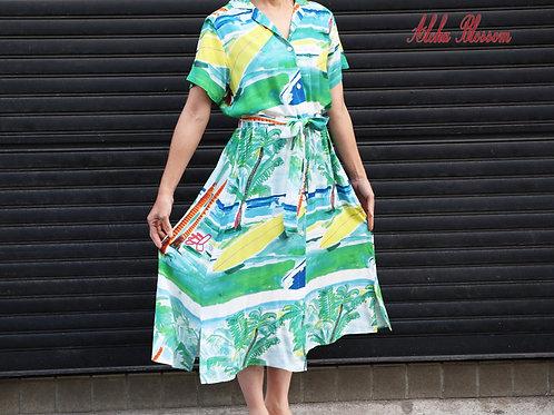 """SUMMER TIME"" Aloha Blossom ワンピース"