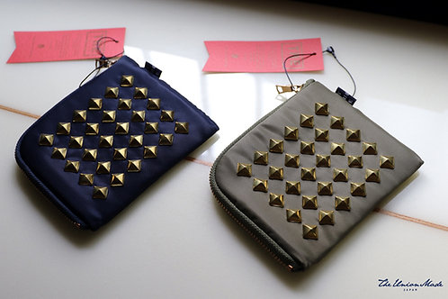 """NYLON STUDS HALF  WALLET""  THE UNION / THE COLOR"