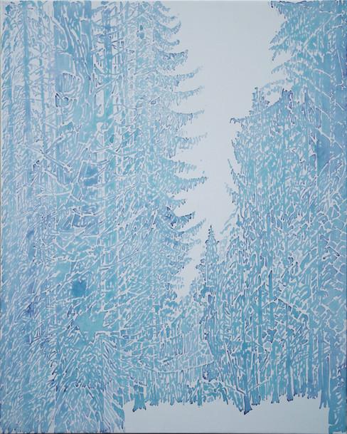 Futaie de sapins. 2016. 81 x 65 cm. Aquarelle sur papier monté sur châssis.jpg