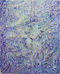 Ramée de bois de pins. 2017. 81 x 65 cm. Aquarelle sur papier monté sur châssis.jpg