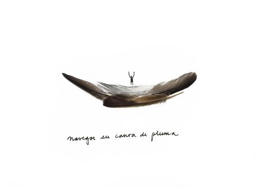 navegar en canoa de plumas