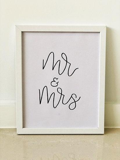 Mr & Mrs Framed Quote