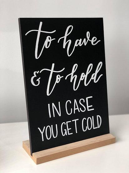Blanket Bar Sign