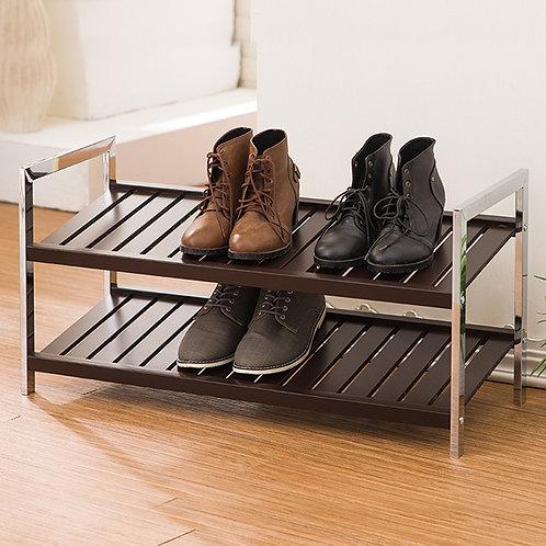 典雅實木鞋架