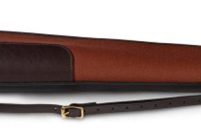 Croots Rosedale Canvas & Leather Gun Slip (Maroon)